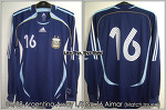 06/08 Argentina Away L/S No.16 Aimar Match Un Worn Shirt
