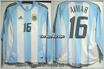02/04 Argentina Home L/S No.16 Aimar Match Worn
