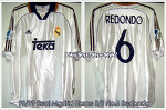 98/99 Real Madrid Home S/S No.6 Redondo - Uefa Super Cup Match Worn (Vs. Chelsea FC 28 August 1998) (SOLD OUT)
