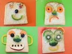 식빵으로 재미있는 얼굴 만들기