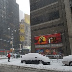 뉴욕 출장중, 올초 맞닥뜨린 폭설