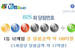 로또 825 회 당첨번호 모음 및 최근 안 나온 수, 최근 많이 나온 수
