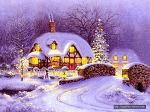 구들장벽난로와 함께 메리크리스마스