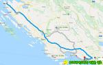 근사한 풍경이 있는 크로아티아의 고속도로 휴게소