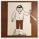 A4용지와 펜하나, 허스크밋나븐(HuskMitNavn)의 재미난 종이아트