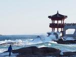 [속초 여행] 한 겨울 한파 속 파도치는 바다 풍경