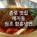 종로 4가 맛집 - 예지동 원조 함흥냉면
