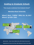 Guiding to Graduate Schools Workshop
