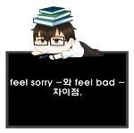 feel sorry ~와 feel bad ~의 해석 차이.