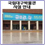 국립대구박물관 시설과 소장중인 국보 알아보기.