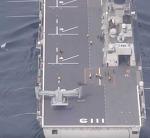 독도함에 착륙하는 MV-22 오스프리/ 독도함과 마라도함 갑판확장 상상