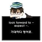 기대하다. look forward to ~와 expect ~.