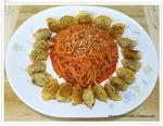 [풀무원] 5색야채 물만두로 팝만두&쫄면 만들어보기!