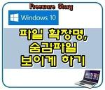 윈도우10, 파일 확장명, 숨김파일 보이게 하기