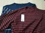 유니클로 워시 스트라이프 티셔츠 / 기본티, 베이직한 스타일