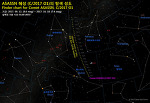 Finder chart for Comet ASASSN (C/2017 O1) ASASSN 혜성 (C/2017 O1)의 탐색 성도