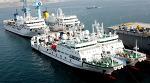 한진중공업 영도조선소, 국립대 실습선 4척 공동명명식