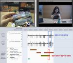 안경형 아이트래킹 데이터와 실험 환경 동영상 연동