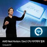 AMD Zen2 CPU 아키텍처 발표 7nm GPU (AMD Next Horizon)