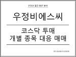 우정비에스씨 - 코스닥 투매 나올 때 개별 종목 대응 방법