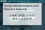 [구글 애널리틱스] better-seo-promotion.com은 무엇인가? (부제. free-seo-help.org)
