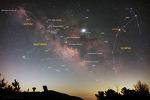 Saturn, Summer Milky Way, Jupiter, and Scorpius