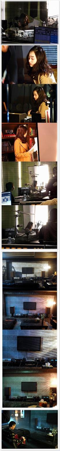 영화 심야의 FM 촬영 현장입니다.