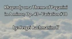 피겨 쥬크박스 - 라흐마니노프 파가니니 주제에 의한 광시곡 18번
