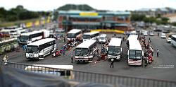 아프리카의 어느 버스 터미널..