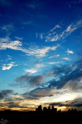 # 노을이 지는 하늘 (2008. 07. 08)