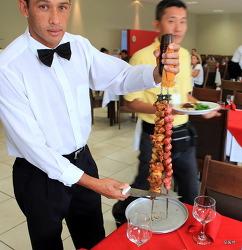 브라질 소 한마리 음식 -슈하스코