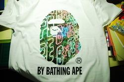 bape photo camo t-shirts