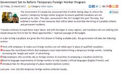 캐나다 LMO/취업비자(Work Permit) 받기 더 어려워 지겠네요.