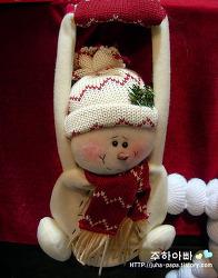 귀여운 눈사람 인형