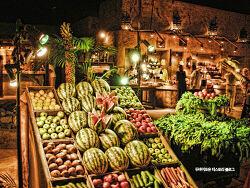 두바이사막호텔안의 너무나 멋진 감동의 레스토랑 알하디라