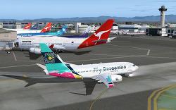 Fly Onsaemiro, 공식 취항, B737-700, 샌프란시스코-L.A