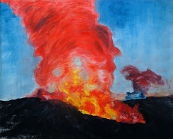 volcano 135 x 165 oil on canvas 2012