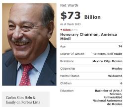 세계 부자 순위, 카를로스 슬림과 아만시오 오르테가