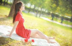 붉은 원피스가 잘 어울리는 그녀 MODEL: 연다빈 (4-PICS)