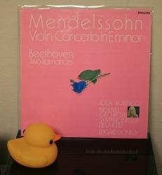 [LP음반] Lola Bobesco (롤라 보베스코) - 멘델스존 바이올린 협주곡 (Mendelssohn Violin Concerto) / Beethoven Violin Romance (with Nouvel Orchestre Symphonique De La R.T.B.F., 1982년)