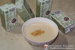 [두유요리]연세두유 콩볶는집 볶은콩두유로 만든 초간단요리 두유타락죽