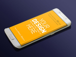 → 삼성 갤럭시 S6 엣지 목업 무료 :: Samsung Galaxy S6 Edge free Mockup