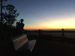 호주 골드코스트 탬버린마운틴의 아름다운 석양감상하기