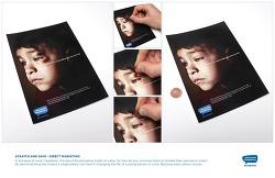 캐나다 아동폭력 신고전화 Kids Help Phone의 DM광고 - 필요없는 동전으로 아이의 얼굴에서 멍을 지워주세요. 'Scratch & Save'편