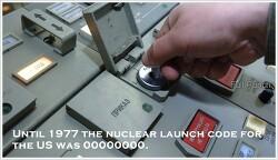 거의 20년간이나, 미국의 모든 핵 미사일 발사 비밀번호는 00000000 이었다.