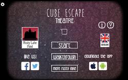 큐브 이스케이프(극장 : Theatre) 방탈출 플레시 게임