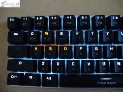 ABKO HACKER K585 화이트LED 68키 텐키리스 더블키캡 (블랙, 청축) 필드테스트