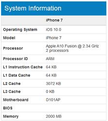 애플 A10 긱벤치4 분석. (아이폰7/7+)