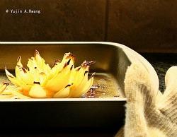 초간단 양파꽃 치즈구이(양파 연꽃 모양 자르기)