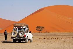 아프리카 캠핑카여행 Day 13 (Part 2/2) - 나미비아 나미브사막 듄45 (Dune 45) / 세스림캐년 (Sesriem Canyon) / 엘림 듄 (Elim Dune) / 세스림 캠핑장 ( Sesriem Campsite )